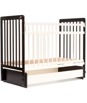 """Кровать детская """"Bambini"""" Euro Style 05, венге (тем. орех)/слоновая кость"""