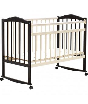 """Кровать детская  """"Bambini Classic"""" 09, темный орех."""