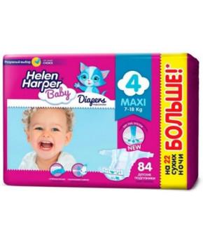 """Подгузники """"Helen Harper"""" Baby 4 (7-18кг) 84шт бумажные"""