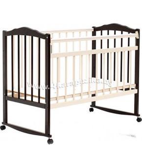 """Кровать детская  """"Bambini Classic"""" 09, темный орех/слоновая кость."""