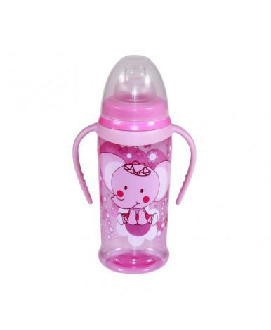 """Бутылочка """"Lorelli"""" BabyCare, c мягким носиком, 2 ручками 350 мл"""