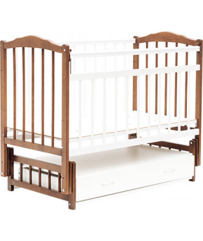 """Кровать детская  """"Bambini Classic"""" 10, светлый орех/белый."""