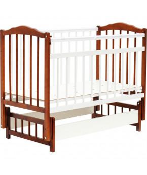 """Кровать детская """"Bambini"""" Classic 11, светлый орех/белый"""