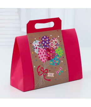 Пакет-коробка с ручкой 31 х 11 х 23 см