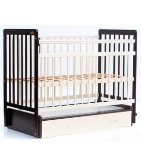 """Кровать детская  """"Bambini Euro Style"""" 04, венге (тем. орех)/слоновая кость."""
