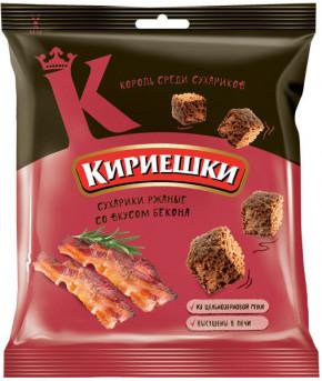 """Сухарики """"Кириешки"""" со вкусом бекона, 40гр"""