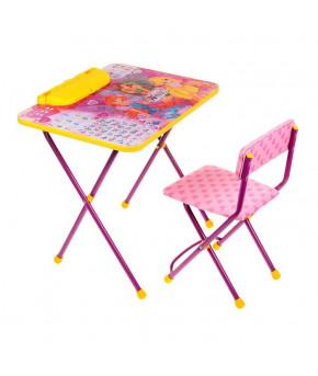 """Набор мебели """"Азбука 2"""" Винкс: стол, стул мягкий, пенал В2А  1465 772137"""