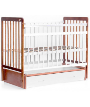 """Кровать детская  """"Bambini Euro Style"""" 04, светлый орех/белый."""
