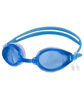 Очки для плавания + беруши F268, цвета микс