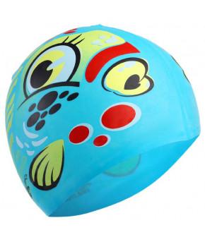 Шапочка для плавания, детская, силикон, цвета микс