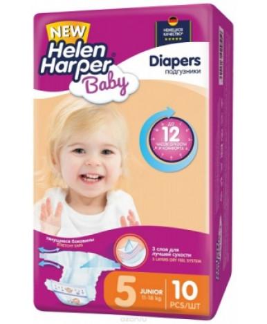 Helen Harper подгузники детские Baby Junior (11-18 кг) 10шт бумажные