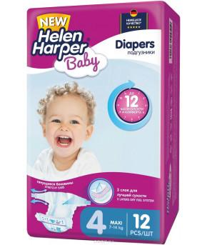 """Подгузники """"Helen Harper"""" Baby 4 (7-14кг) 62шт бумажные"""