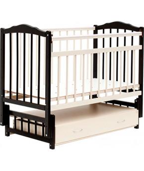 """Кровать детская  """"Bambini Classic"""" 10, темный орех/слоновая кость."""