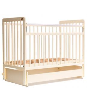 """Кровать детская  """"Bambini Euro Style"""" 04, слоновая кость."""