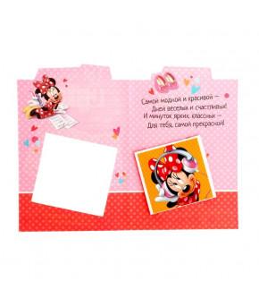 """Блокнот в открытке """"Ты просто супер """"Минни Маус"""