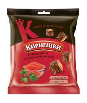 """Сухарики """"Кириешки"""" со вкусом красной икры, 40гр"""