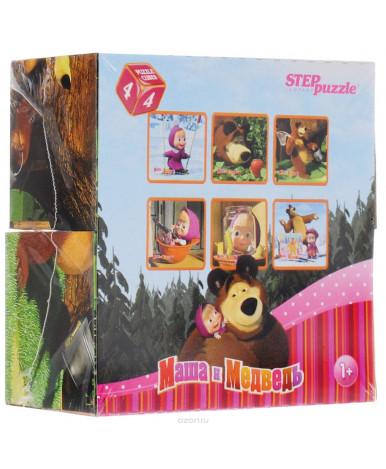 """4 кубика """"Маша и Медведь"""""""