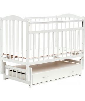 """Кровать детская  """"Bambini Classic"""" 10, белый."""
