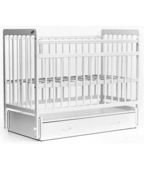"""Кровать детская  """"Bambini Euro Style"""" 04, белый."""