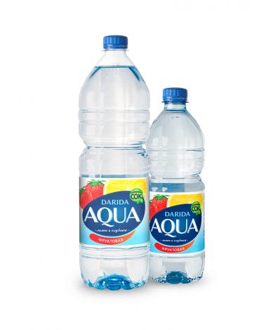 """Вода """"Darida"""" Aqua мега фрукт вкус клубники и лимона, 0,75л"""