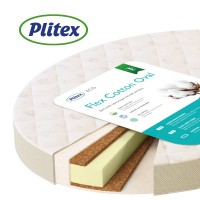 "Матрас ""Plitex"" ""Flex Cotton Oval"", р-р 1250х750х100мм"