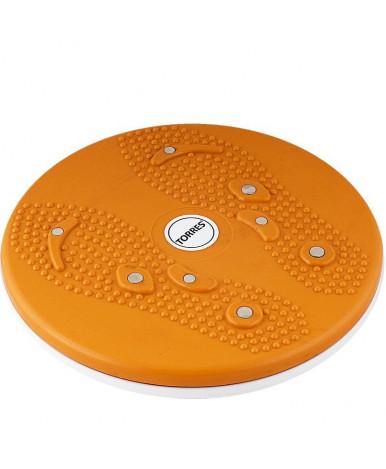 Диск Здоровье Torres 8 магнитов, нескользящее покрытие, оранжево-белый