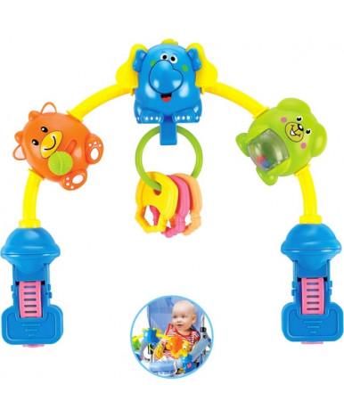 Каруселька Бамбини с пластиковыми игрушками на кровать