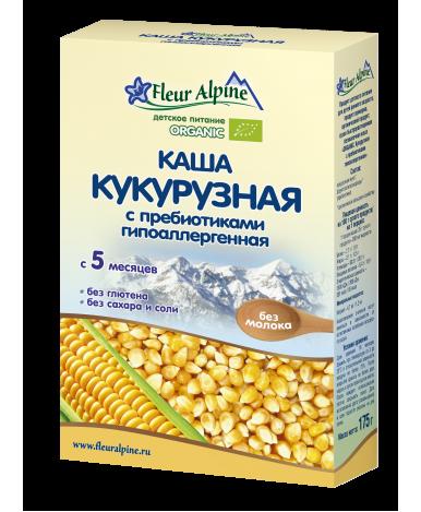 Каша Fleur Alpine Organic кукурузная безмолочная 175г