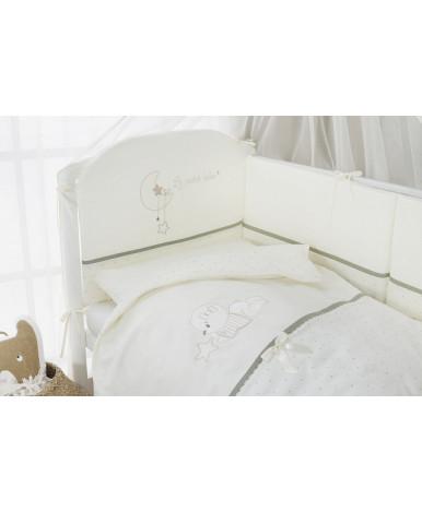 Комплект в кроватку Perina Le petit bebe молочно-оливковый 4пр