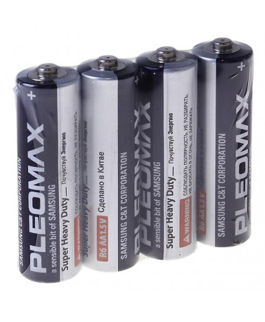 "Батарейка солевая ""Samsung"" Pleomax Super Heavy Duty, АА, R6-4S, спайка, 4 шт."