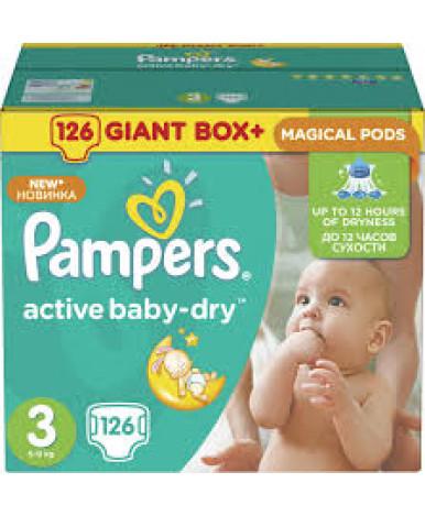 "Подгузники ""Pampers"" Active Baby 3 (4-9 кг) 126шт"