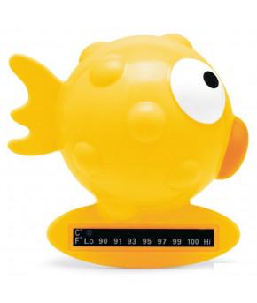Термометр Chicco Рыба Шар жёлтый для ванны