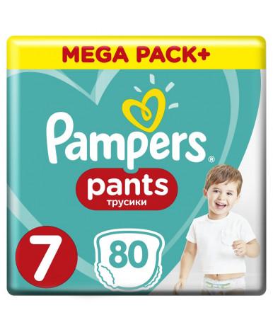 Подгузники-трусики Pampers Pants 7 (17>кг) 80шт (2 части цена за 40шт)