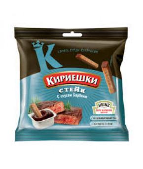 """Сухарики """"Кириешки"""" ржаные стейк с соусом Барбекью 60г"""