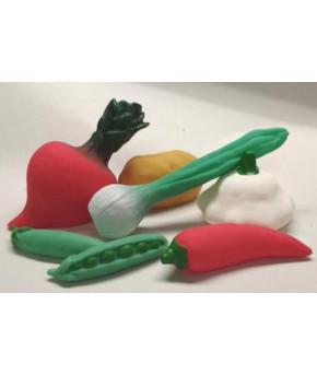 Набор Овощей из Пвх пластизоля из 7 предметов