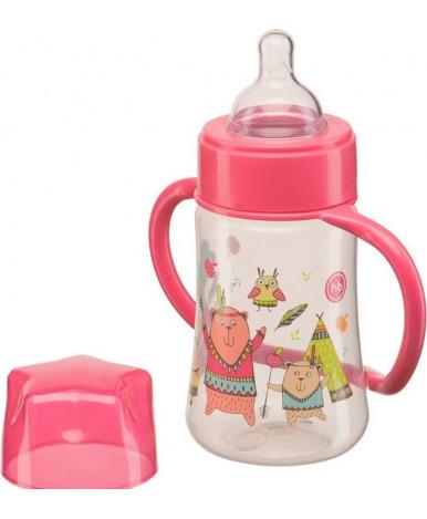 """Бутылочка """"Happy Baby"""" с ручками и силиконовой соской 250 мл"""