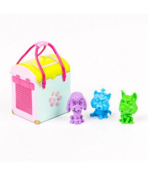 Набор фигурок в пластиковой сумочке Три веселых собачки