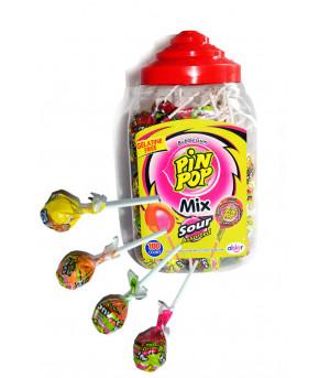 Карамель на палочке Pin Pop SODAS с жевательной резинкой внутри 18г