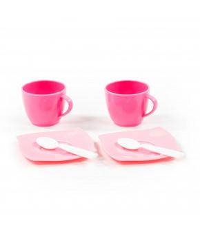 """Набор детской посуды """"Polesie"""" Алиса на 2 персоны (6 элементов) (в сеточке)"""