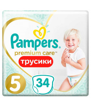 Подгузники-трусики Pampers Premium Care 5 (12-17 кг) 34шт