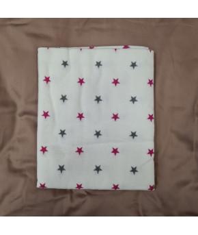 Пеленка Sofi Красно серые звезды фланель 80х100см