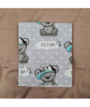 Пеленка Sofi Мальчик-медвежонок фланель 80х100см