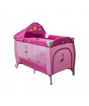 Кровать-манеж Coto Baby Samba LUX-10 розовый