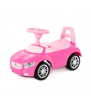 Автомобиль-каталка Полесье SuperCar №1 со звуковым сигналом розовая