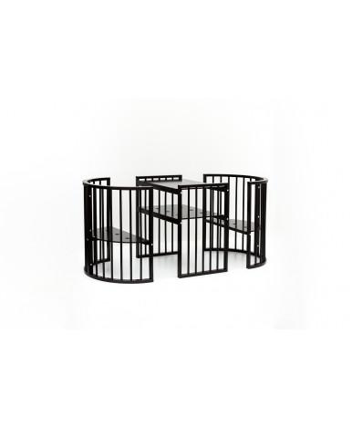 Кровать трансформер 7в1 Bambini М 14, колесо, венге