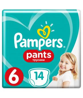 Подгузники-трусики Pampers Pants 6 (>15 кг) 14шт