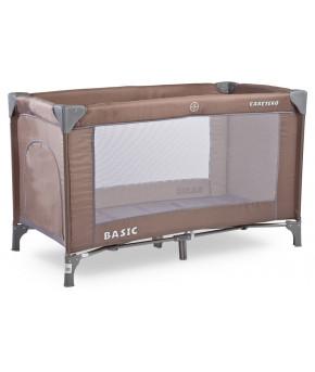 Кровать-манеж Caretero Basic, brown