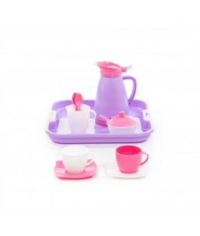 """Набор детской посуды """"Polesie"""" Алиса с подносом на 2 персоны (Pretty Pink)"""