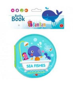 Игрушка для ванны BamBam книжка Морские животные