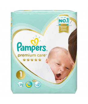 Подгузники Pampers Premium Care 1 (2-5кг) 72шт